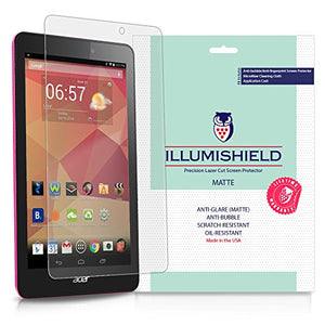iLLumiShield Matte Screen Protector Compatible with Acer Iconia One 8 B1-810 (2-Pack) Anti-Glare Shield Anti-Bubble and Anti-Fingerprint PET Film