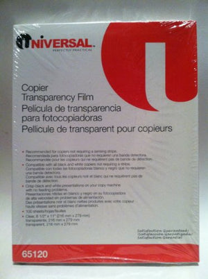 Universal Plain Paper Copier Transparency 65120