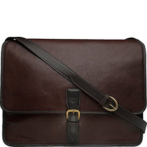 Hidesign Harrison Buffalo Leather Laptop Messenger, Brown