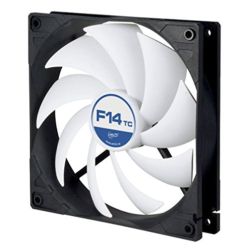 Arctic F14 Tc   140 Mm Case Fan With Temperature Control, Very Quiet Motor, Computer, Fan Speed: 400