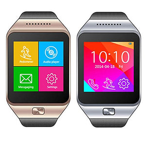 indigi Bluetooth Compatible + GSM Wireless SmartWatch Compatible for iOS Android OS