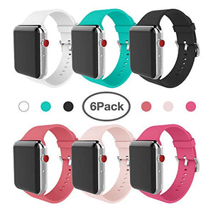 for Apple Watch Band 38mm Soft Silicone Replacement Band for Apple Watch Series 3 Series 2 Series 1