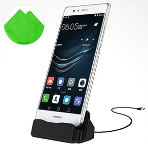 First2savvv Magnetic Connection Charging Sync Dock Charger Station for Micro USB Android Smartphone + Cleaning cloth.-DOCK-CT-S-S01