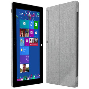 Skinomi Brushed Aluminum Full Body Skin Compatible with Microsoft Surface 2 (Full Coverage) TechSkin with Anti-Bubble Clear Film Screen Protector