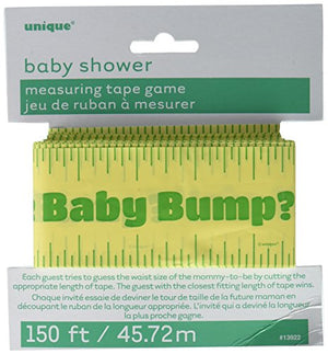Unique 150ft Baby Shower Bump Measuring Tape Game, Multicolor, 5.75
