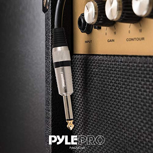 "Pyle Pro Ca Pyle 1/4"" Audio Cord â¼ To â¼ Inch Mono Jack Male Connection 50 Ft 12 Gauge Black Heavy"