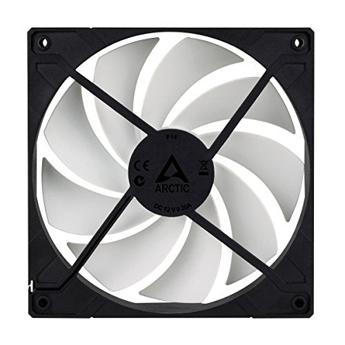 ARCTIC F14-140 mm Standard Case Fan, Ultra Low Noise Cooler, Silent Cooler with Standard Case, Push- or Pull Configuration Possible