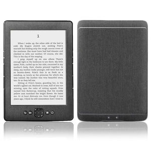 Skinomi Brushed Steel Full Body Skin Compatible with Amazon Kindle (2012)(Full Coverage) TechSkin with Anti-Bubble Clear Film Screen Protector