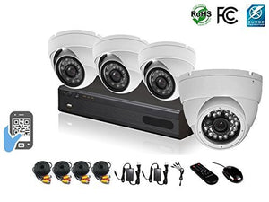 HDView 12 (8 BNC + 4 IP) Channel 2.4MP 1080P HD Megapixel Security Camera Surge-Protection 4-in-1 (TVI/AHD/CVI/960H) DVR Kit, 4 x 2.4MP 1080P Infrared Cameras Package System (No HDD Installed)