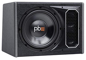 Powerbass PS-WB101 500W Single 10-Inch Loaded Subwoofer Enclosure SVC 4 Ohm