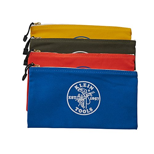 Klein Tools 5140 Zipper Bag, Utility Bag Use As Bank Deposit Bag, Tool Bag Or Pouch, More In Olive,