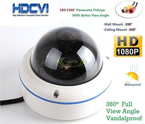 HD-CVI 1080P 2.0Megapixel Panorama CCTV Surveillance Fish Eye Camera Mini Security Camera 360 Degree