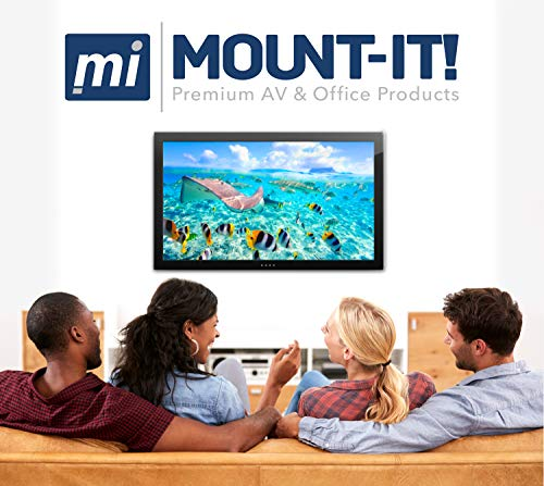 "Mount-It! MI-601 Full-Motion Tilting, Swiveling, Articulating LCD TV Wall Mount Bracket with Extendable Swing Out Arm for 23"" to 42"" Flat Screen Panel LCD LED Plasma 4K TV Displays,66 lb Capacity"
