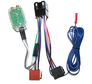 Factory Radio Amp Sub Interface Wire Harness + Inline Converter Installation Kit Compatible with Volkswagen