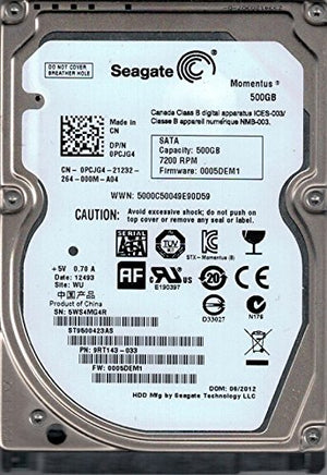 Seagate ST9500423AS F/W: 0005DEM1 P/N: 9RT143-033 500GB WU