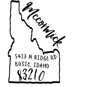Idaho Return Address Stamp - State of Idaho Self Inking Stamp