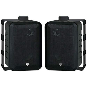 BICRTRV442 - BIC RTR RTRV44-2 Indoor Outdoor 3-Way Speakers (Black)