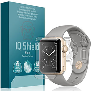 IQ Shield Matte Full Body Skin Compatible with Apple Watch Series 2 (38mm) + Anti-Glare (Full Coverage) Screen Protector and Anti-Bubble Film