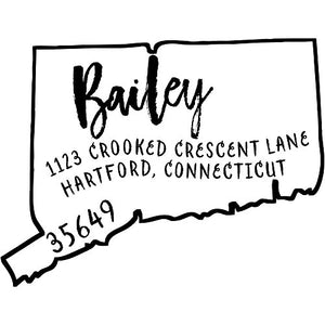Connecticut Return Address Stamp - State of Connecticut Self Inking Stamp
