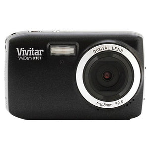 Vivitar VX137-BLK 12.1MP Digital Touch Screen Camera with 1.8-Inch LCD Screen - Body Only (Black)