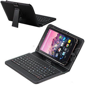 Navitech Folding Leather Folio Case Cover & Stand With Removable Keyboard For The TheHuawei Medi