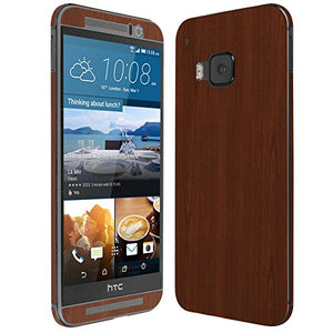 Skinomi Dark Wood Full Body Skin Compatible with HTC One M9 (Full Coverage) TechSkin with Anti-Bubble Clear Film Screen Protector