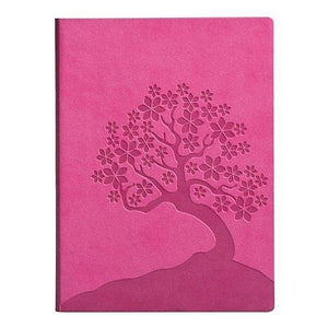 The ESSENTIALS PINK CHERRY BLOSSOM Leather-like Journal by Eccolo -