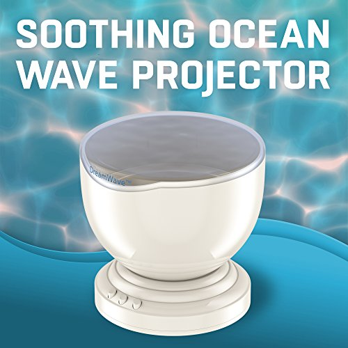 Soothing & Relaxing Ocean Wave Projector Led Night Light With Built In Stereo Speakers / (12 Led Bul