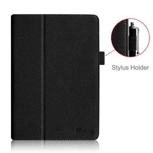 "Fintie Folio Case for iPad Air 9.7"" - Slim Fit PU Leather Smart Stand Protective Cover with Auto Sleep/Wake Feature for Apple iPad Air 2013 Model, Black"