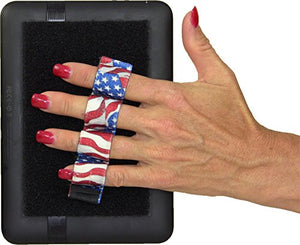 LAZY-HANDS 4-Loop Grip (x1 Grip) for e-Reader - XL - Flags