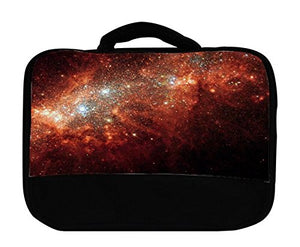 Red Galaxy Insulated Canvas Lunch Bag