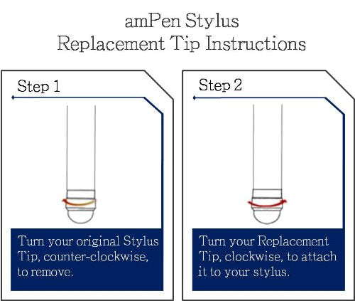 amPen Replacement Hybrid Stylus Tips (5-Pack)