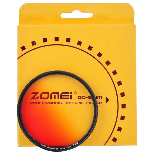 ZOMEI 62mm Ultra Slim Graduated ND Color Filter Kit - Grey Blue Orange Red Gradient Neutral Density Filter Set