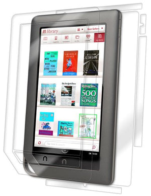 IQ Shield Full Body Skin Compatible with Barnes & Noble Nook Color + LiQuidSkin Clear (Full Coverage) Screen Protector HD and Anti-Bubble Film