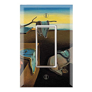 Graphics Wallplates - The Persistence of Memory by Salvador Dali - Single Rocker/GFCI Outlet Wall Plate Cover