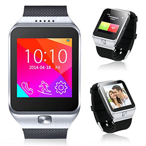 Indigi 2-in-1 Interconvertible GSM + Bluetooth Smart Watch And Phone UNLOCKED! (Silver)