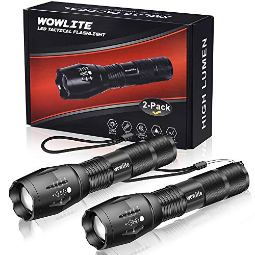 Tactical Flashlight, Wowlite Ultra Bright Led Flashlight With 5 Light Modes & Adjustable Focus For E