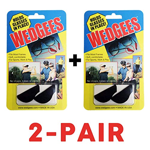 Wedgees Eyeglass Retainers and Eyewear Holders (Black Sport)