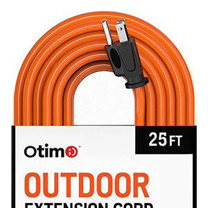 Otimo 25 ft 16/3 Outdoor Heavy Duty Extension Cord - 3 Prong Extension Cord, Orange