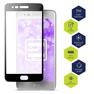 LG Aristo Glass Screen Protector, Evocel [Evo Guard] 9H Hardness [Full Screen Coverage] Tempered Glass Screen Protector For LG Aristo (MS210)/ LG K4 (2017), 2 Pack