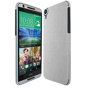 Skinomi Brushed Aluminum Full Body Skin Compatible with HTC Desire 820 (Full Coverage) TechSkin with Anti-Bubble Clear Film Screen Protector
