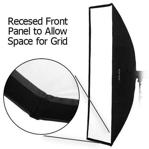 "Fotodiox Pro 24""X80"" Softbox Plus Grid/Eggcrate For Studio Strobe/Flash With Soft Diffuser And Dedic"