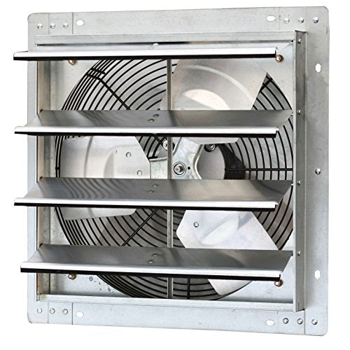 "I Living   16"" Wall Mounted Exhaust Fan   Automatic Shutter   Variable Speed   Vent Fan For Home Atti"