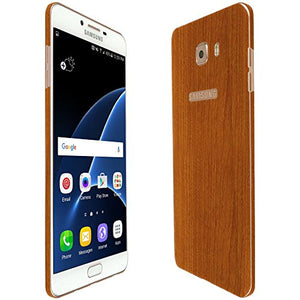 Skinomi Light Wood Full Body Skin Compatible with Samsung Galaxy C9 Pro (Full Coverage) TechSkin with Anti-Bubble Clear Film Screen Protector