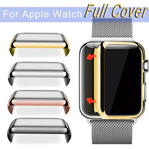 Full Cover Snap On Slim Hard Protective Case for Apple Watch 42mm (Rose Gold)