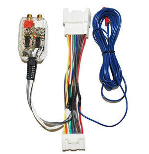 Factory Radio Stereo Amplifier Sub Interface Wire Harness + Inline Converter Compatible with Mitsubishi