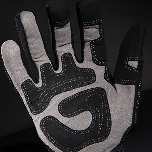 Ironclad General Utility Work Gloves Gug, All Purpose, Performance Fit, Durable, Machine Washable, (