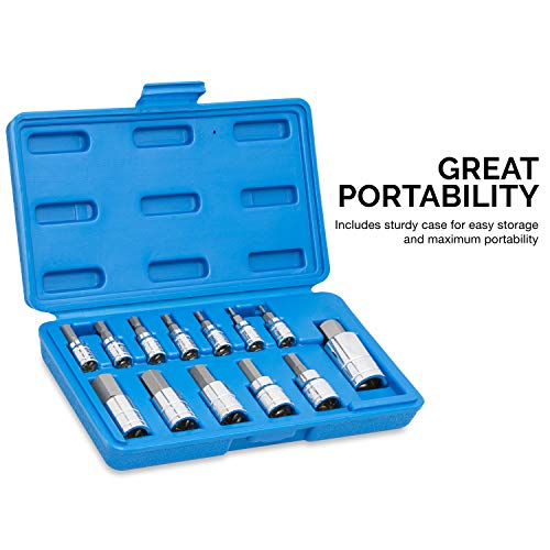 "Neiko 10075A Hex Bit Socket Set, SAE, 5/64""-9/16"" 