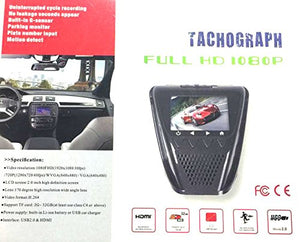 RageCams Tachograph FullHD 1080P Security Dash Camera-Motion Detect-Window Mount Recorder 16gb
