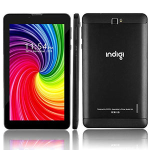 Indigi 4G LTE 6 inch TabletPC & Smartphone GSM Unlocked (Official Android Pie OS + 2SIM + 2GB RAM/16GB ROM) (Black) + SD Card Included